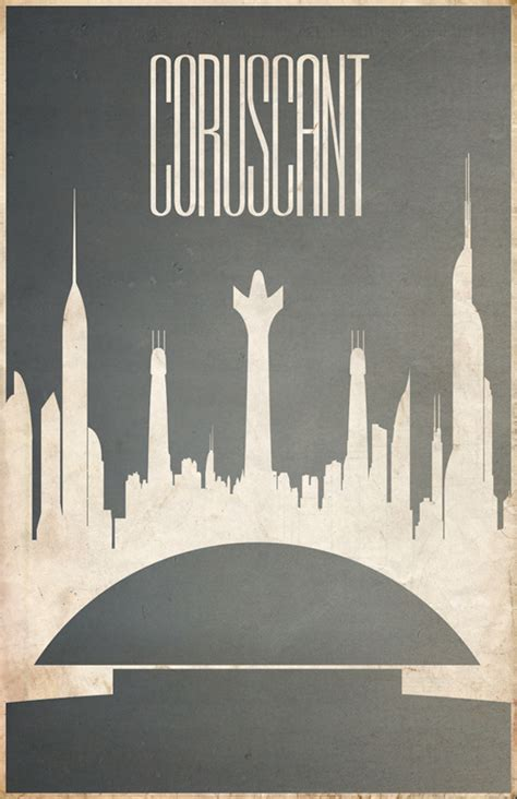 wonderful posters imagine iconic star wars planets