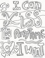 Coloring Pages Doodle Alley Quote Quotes Adult Anniversary Sheets Happy Printable Colouring Mom Dad Books Discover sketch template