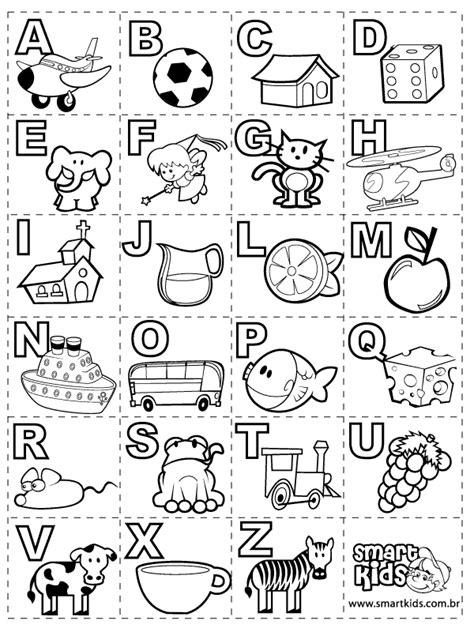 dibujos con letras abecedario para colorear material educativo