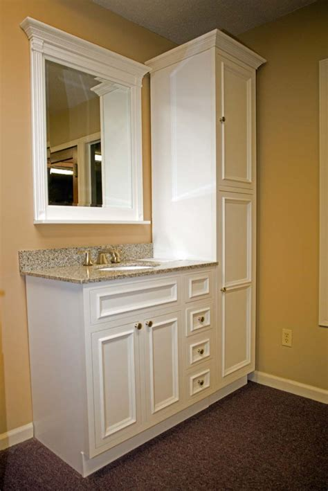 short narrow bathroom cabinet for small bathroom instead of a large counter space put