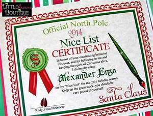 Printable santa39s nice list certificatediy santa for Santa letter and certificate