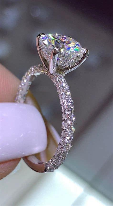 karat white gold diamond  halo wedding ring   etsy wedding rings vintage