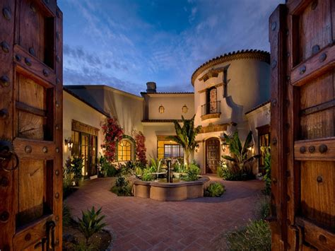 front entry courtyard designs bdbdeaa spanish hacienda