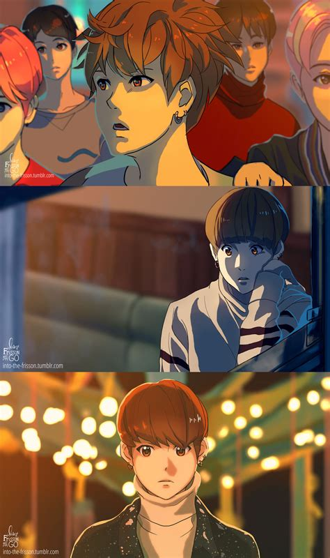 bts day anime mv jungkook by