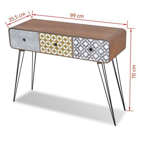 Commode Table by Acheter Commode Table D Entr 233 E 224 3 Tiroirs Brun Pas Cher