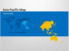 Asia Pacific Map Editable PowerPoint Template Editable
