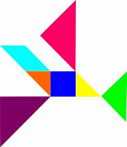 Geometric Clipart Shapes Puzzle Clip Tangram Bodies