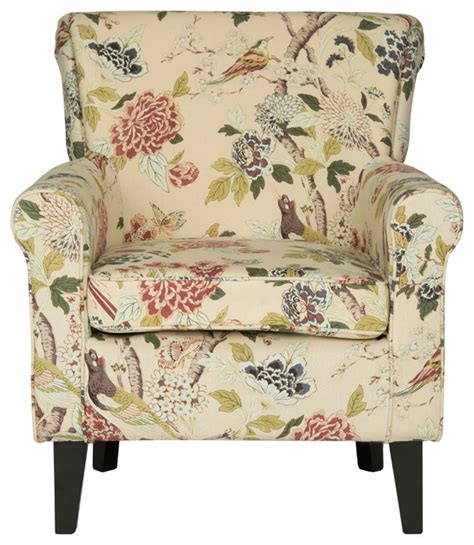 hazina club chair green printed armchairs and accent