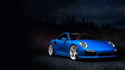 Blue Porsche 991 Wallpapers
