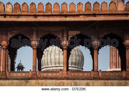 jama masid  friday mosque  delhi india stock photo