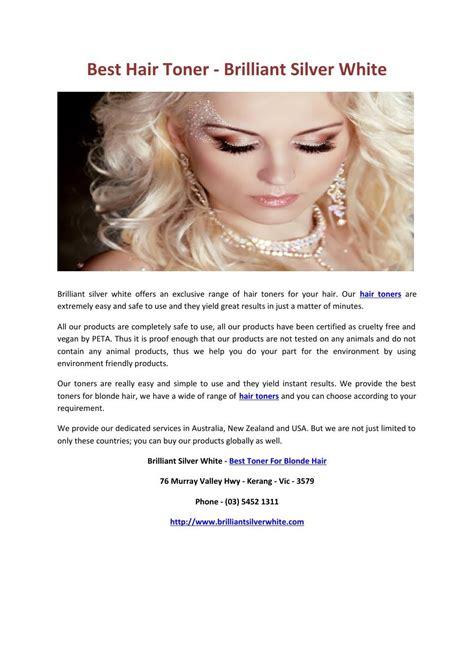 Best Hair Toner Brilliant Silver White Hair Toner