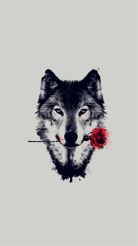 Best Lock Screen Wallpaper Wolf Red Rose Art Wallpaper Iphone 2018 Iphone Wallpapers
