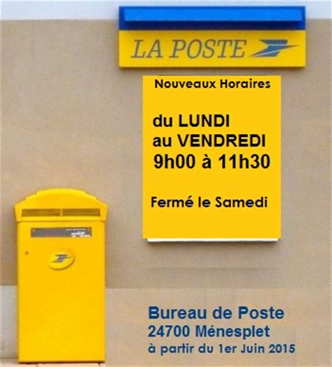 horaires bureau de poste horaires ouverture bureau de
