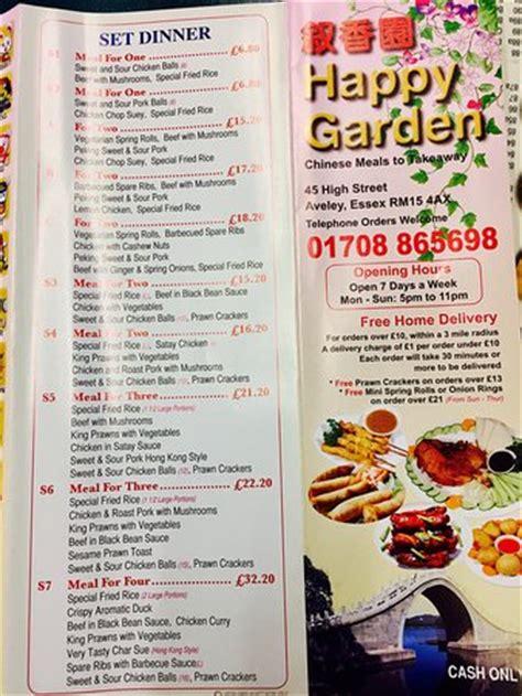 happy garden menu happy garden aveley 45 high st restaurant reviews