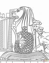 Singapore Merlion Coloring Printable Colouring Supercoloring National Drawing Template Drawings Sketch Bush Chinese Abrir Drukuj Sheets Bible sketch template