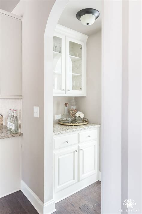 S Pantry Organizing A Small Butler S Pantry Bar Area Organization