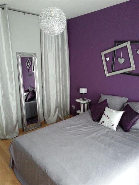 chambre d馗oration décoration chambre violet et gris decoration guide