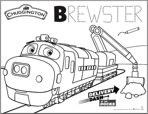 Chuggington Delivery Dash At The Docks Color Pages