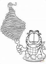 Spaghetti Coloring Pages Printable Garfield Drawing Silhouettes Paper sketch template