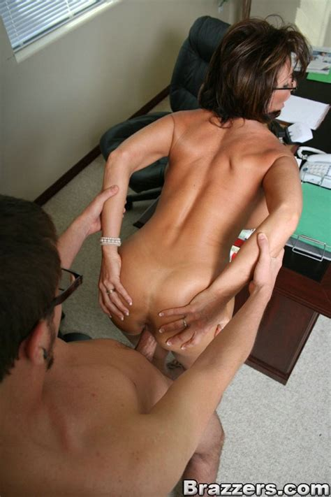 huge titted sexpot deauxma in glasses rides cock like crazy in the office
