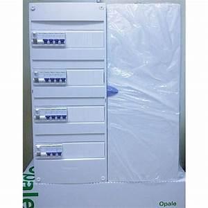 Porte Tableau Electrique : tableau electrique 4 rangee pre equipe avec porte ~ Premium-room.com Idées de Décoration