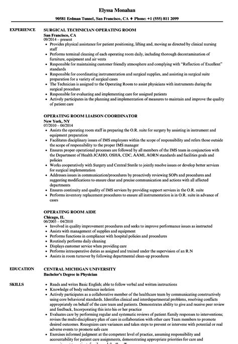 operating room scheduler sle resume sle resumes for