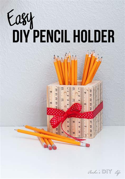 diy ruler pencil holder easy teacher gift idea anikas