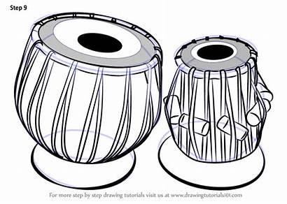 Tabla Drawing Draw Step Instruments Musical Tutorials