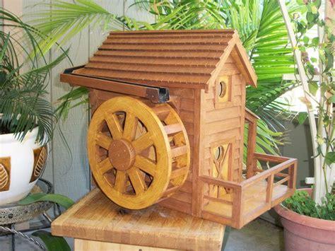 water wheel house  water trough wood creations shop  garden pinterest