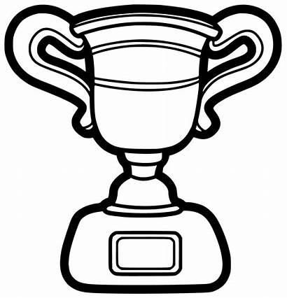 Trophy Coloring Printable Trophies Template Cup Clip