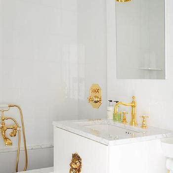 white and gold bathroom design decor photos pictures