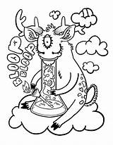 Coloring Pages Weed Smoking Popular Clip sketch template