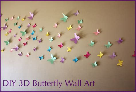 Lavender and turquoise ombre butterfly heart mix butterflies canvas art nature fantasy room decor wall decor nursery room decor handmade. MooMama: DIY 3D Butterfly Wall Art with FREE Templates
