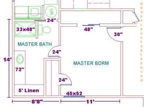 Master Bedroom With Bathroom Floor Plans Floor Plan For A 8x14 Bath And 11x13 Bedroom House Bedrooms Bathroom Floor