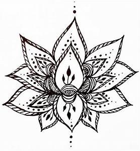 Lotus Flower Temporary Tattoo Hand Drawn Henna Style ...