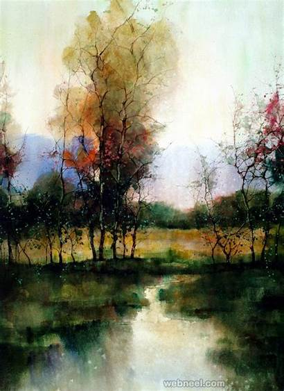 Watercolor Painting Landscape Paintings Daily