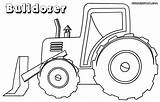 Bulldozer Coloring Pages Drawing Backhoe Vehicle Drawings Colorings Getdrawings sketch template