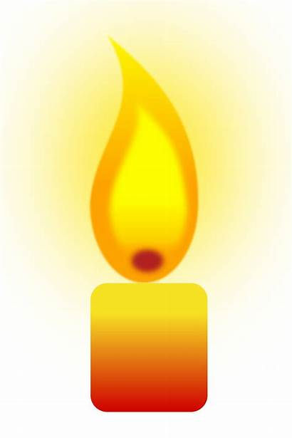 Candle Clipart Flame Transparent Burning Fire Background