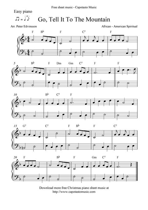 Ash grove is a great, slow fiddle song for beginners. Free Printable Piano Sheet Music   Free Sheet Music Scores: Easy free Christmas piano sheet ...