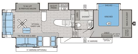 Jayco 5th Wheel Floor Plans 2018 by 2016 Luxury Fifth Wheel Floorplans Prices