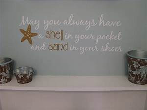 Beach saying wall decal may you always have shell in your for Beach wall decals