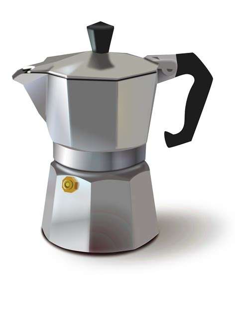 The type of coffee you purchase and the size of the grinds are very important when using a moka pot to make. Collection of Coffee Pot PNG. | PlusPNG
