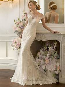 lace over sheer short sleeves illusion keyhole back With short lace wedding dress with sleeves