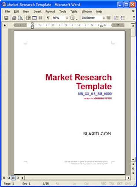 market research template ms word  excel downloads
