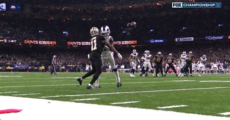 pass interference call  rams  cost saints
