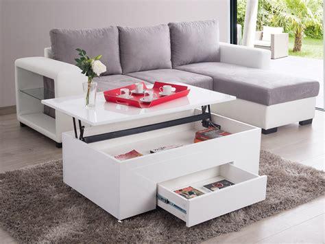 meuble cuisine laqué table basse rectangulaire en bois plateau relevable l 110