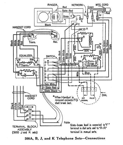 western electric phone wiring diagram western electric