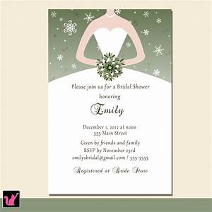 bridal shower invitations custom bridal shower With personalized wedding shower invitations