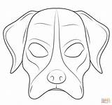 Mask Dog Coloring Printable Pages Template Mayan Masks Supercoloring Masque Chien Puppy Templates Face Coloriage Sheets Animaux Maya Miguel sketch template