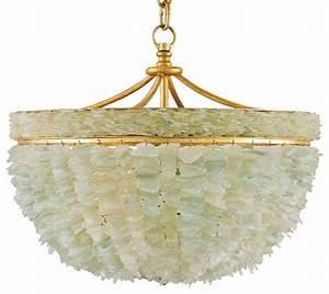 Mira coastal beach marine sea glass gold light bowl